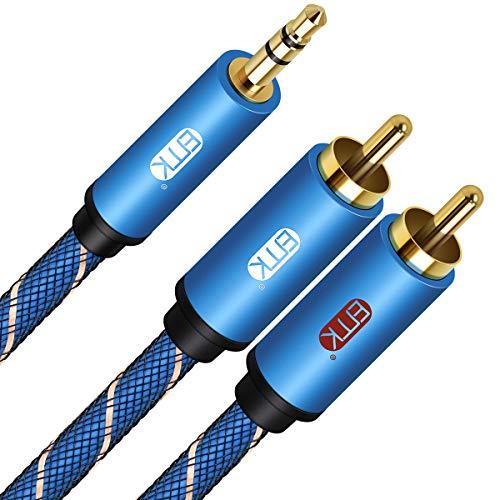 EMK Cable RCA 3,5 mm Cable Audio Mini Jack de Conectores Chapados...