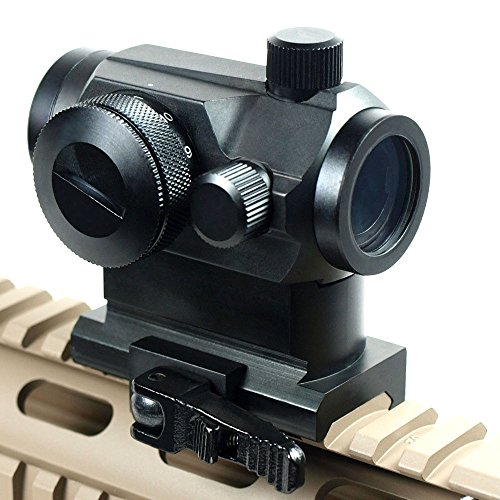 IRON JIA'S Quick Release Tactical Holographic Micro T-1 1X24 Red & Green Dot Scope Riflescope Black with Riser Mount Rifle Hunting
