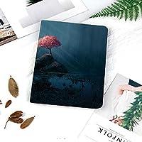 高級PU 手帳型 iPad 9.7 ケース全面保護 2018/2017春発売 New iPad 9.7インチ(第6、5世代)iPad Air246/Air対応 スマートケース 神秘的な森の中の孤独なピンクの桜の木