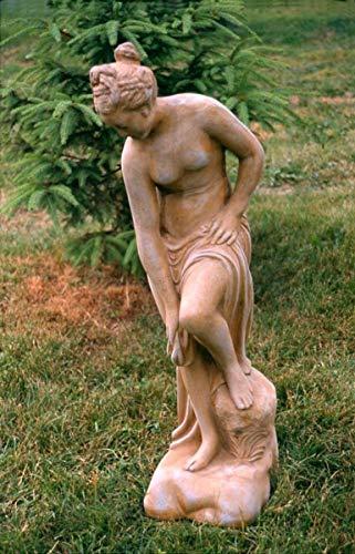 Casa Padrino Art Nouveau Escultura Venusim baño Estilo Antiguo Gris 23 x H 67 cm Estilo Antiguo Colores Tierra - decoración de jardín Barroco - Pesado y sólido