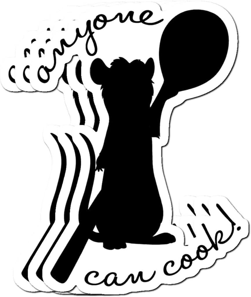 Amazon.com BreathNenStore Anyone can Cook Ratatouille Stickers ...