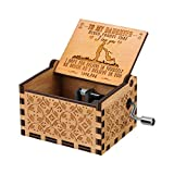 RUYE You are My Sunshine Music Box Wood Personalizable Music Box, Laser Engraved Vintage Wooden Sunshine Musical Box Gifts for Birthday/Christmas (Father to Daughter)