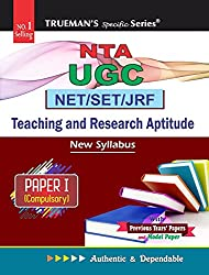 UGC NET SET General Paper I – Teaching & Research Aptitude 2020 Edition