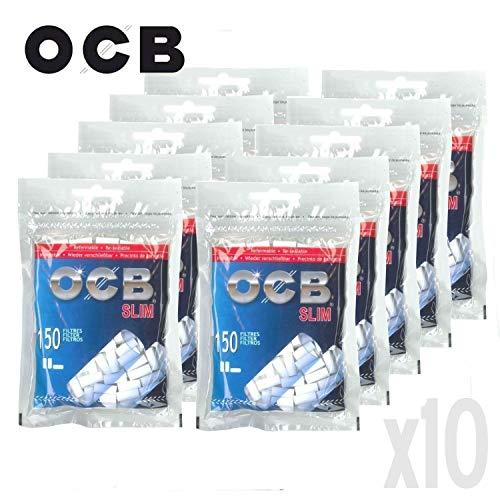 Lot de 10 sachets de Filtre Slim OCB