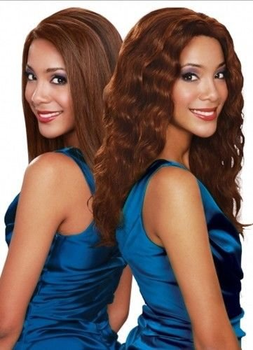 "HONEY CURL (14"", P1B/30) - Bobbi Boss 100% Indian Remy Human Hair Wet & Wavy Weave Extension"
