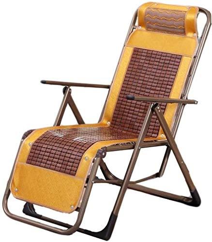 KOIUJ Silla de bambú Silla de salón chairSun, Gravedad Cama Silla, sillón reclinable for el jardín al Aire Libre Patio (Size : 1)