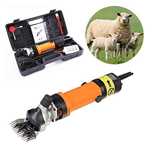 CGOLDENWALL 690W Elektrische Schafschermaschine 2400U/min Ziegenschneider Tierschermaschine zum Scheren von Pferd Rinder Schaf Ziegen-Alpaka-Kamel mit 6 Geschwindigkeiten