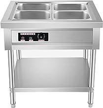 YQJY 220v Chauffe-Plat Electrique Buffets Chauffant Réchauffage D'aliment Food Warmer avec Pots Chauffe-Buffet Chafing Dis...
