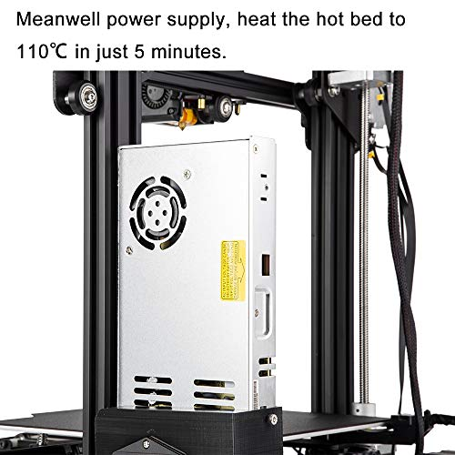 Creality Ender 3 Pro 3D Printer with Removable Build Surface Plate and UL Certified Meanwell Power Supply Printing Size 8.66x8.66x9.84in / 220x220x250mm