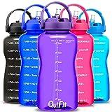 QuiFit - Botella de agua libre de BPA, 3,8 L/2 L, con diseñ