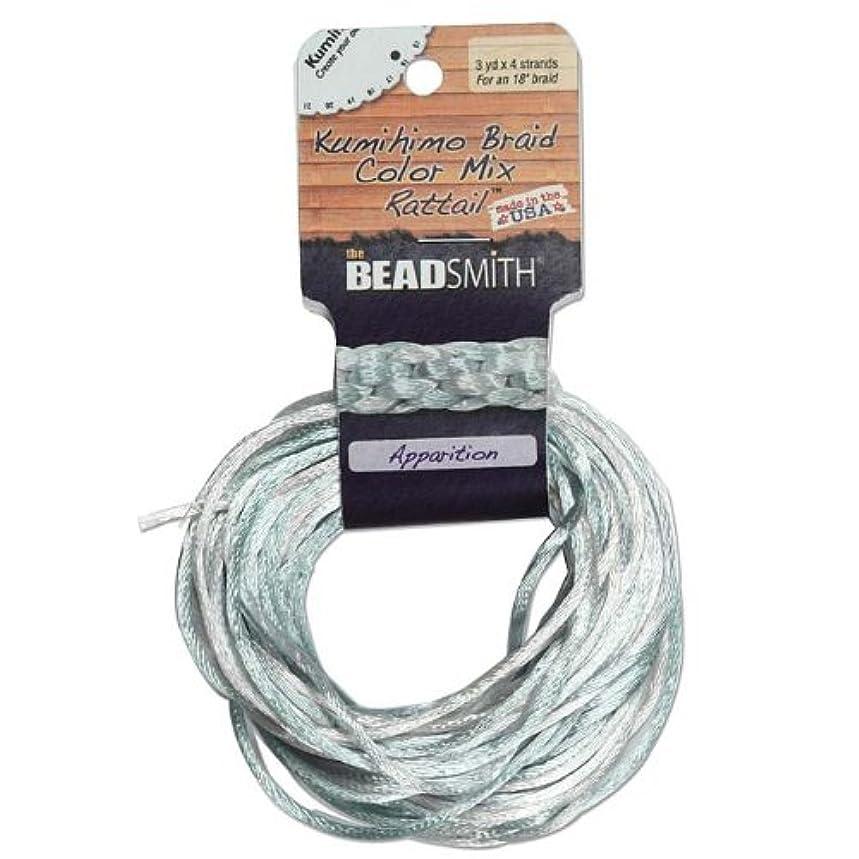 Satin Rattail Braiding Cord 2mm Apparition Mix 4 Colors - 3 Yds Each