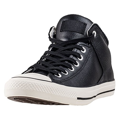 Converse Unisex-Erwachsene CTAS HIGH Street HI EGRET Hohe Sneaker, Schwarz (Black/Black), 44.5 EU