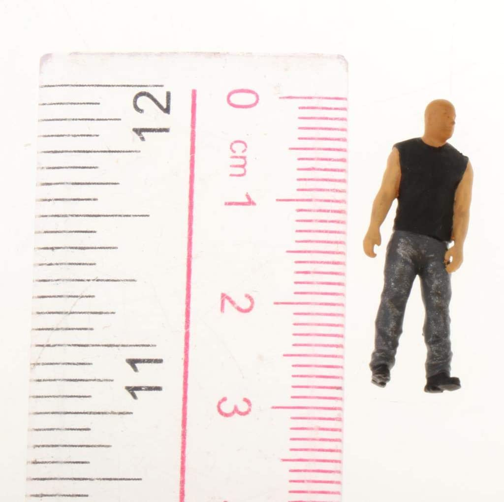 Grey Harilla 1//64 Scale Characters Figure People Railway Road Layout for Fire Wheel Decor