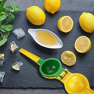 Сitrus Juicer & Lemon Squeezer Premium/Stainless Steel 18/10, Lime Juicer Handheld with Silicone Handles and Mini… |