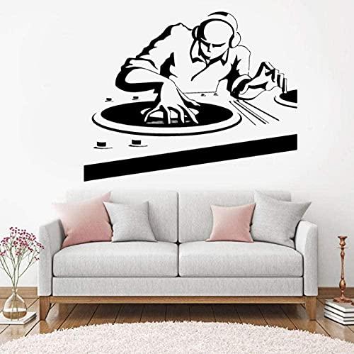 Música Pegatinas de la pared NUNTSCLUB Música Música Linda de la pared Decoración de la discoteca Decoración Detachable Vinilo Música Fotomural 72 * 57cm