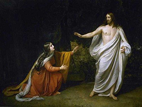 Das Museum Outlet–Alexander Iwanow–Christus erscheint Maria Magdalena nach der Auferstehung–Leinwand Print Online (61x 45,7cm)