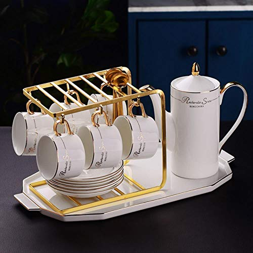 Cups Mug Sets Vintage Pottery Coffee Cup Set Porcelain Office Creative Coffee Tea Cup with Handle Cup Saucer,Set G