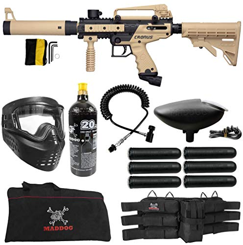 Maddog Tippmann Cronus Tactical Corporal CO2 Paintball Gun Marker Starter Package - Black/Tan