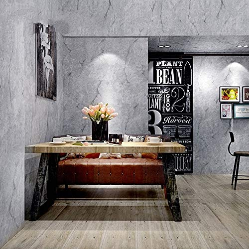 LFBIZHI Retro Plain Style Tapete Hellgrau Einfarbig Wandtattoos Wohnzimmer Schlafzimmer Shop...