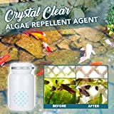 Delaspe Agente de Eliminación de Algas de Acuario Polvo de Eliminación de Algas Acuáticas Agente de Eliminación de Algas de Pecera Adecuado para Pecera Acuario