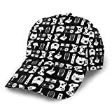 Unisex Adjustable Baseball Visor Cap Polo Style Golf Cap Trucker Hat Sun Cap Perfect for Tennis/Running/Fishing/Hiking/Workouts (Video Game Weapon Funny Gamer Black)