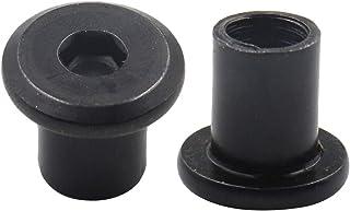 Yoohey 30PCS Rivet Hex Socket Head Insert Nut Screw Post Nickel Plated Round Flat Head Screw Post M8 x 10mm