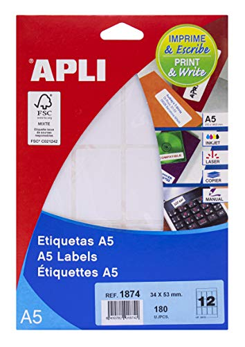 APLI 1874 - Etiquetas A5 blancas 34