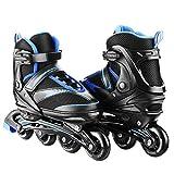 Hikole Adult Roller Skates, Adjustable Inline Skates, Adult Blade Roller Safe and Durable Outdoor Blades Roller Skates for Men and Women