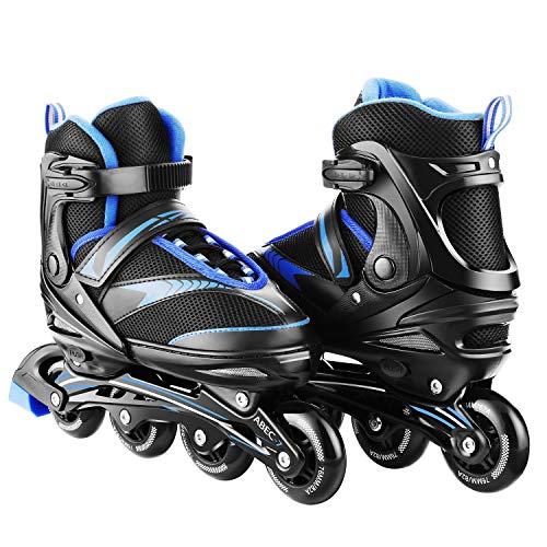 Adjustable Inline Skates Roller Blades Adult or Kid Breathable Outdoor Sport