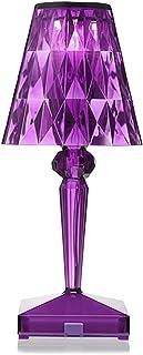 Lampe de bureau en cristal de diamant à contrôle tactile - Chargement USB - Lampe de chevet avec abat-jour élégant - Lampe...