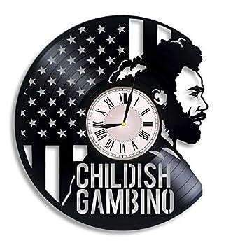 Childish Gambino Vinyl Record Wall Clock mcDJ Donald McKinley Glover Jr Childish Gambino Artwork Childish Gambino Gift Childish Gambino Clock Wall Decor GIF for Music Lover