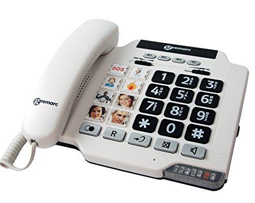 Geemarc PHOTOPHONE 100 Fototasten schwerhörigen/schwersehenden Seniorentelefon Deutsche Version