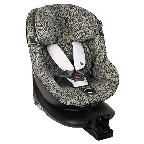 Bezug für Maxi-Cosi Mica Kindersitz Grün Zebra Schweißabsorbierend und weich für Ihr Kind Schützt vor Verschleiß und Abnutzung Öko-Tex Baumwolle