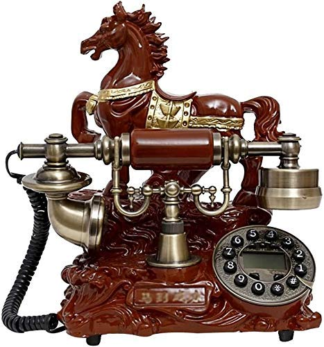 SXRDZ Classic Retro-style Push Button-vintage Phone-retro Telephones -corded Phones-office Telephone Phone Home Living Room Decor Curly Cord And Traditional Bell Ring Tone (Color, B),A (Color : B)