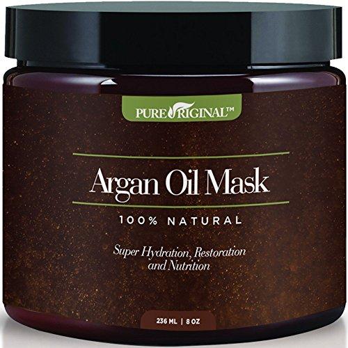 Pure Originals Argan Oil Hair Mask, Deep Conditioner 8 Oz,100% Organic Jojoba Oil, Aloe Vera & Keratin, Repair Dry, Damaged Or Color Treated Hair After Shampoo, Best For All Hair Types