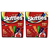 Skittles Zero Sugar Low Calorie Singles To Go Bulk Variety Pack Drink Mix - 2 Boxes of 40 Sticks Each - 80 Total Sticks...