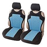 Set di 2 coprisedili per auto con motivo stile t-shirt, con copri poggiatesta, per sedili anteriori, universale, in tessuto cationico, adatto per la maggior parte dei veicoli