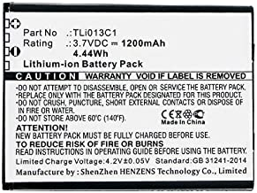 Synergy Digital Cell Phone Battery, Compatible with Alcatel OT-4051S Cell Phone, (Li-ion, 3.7V, 1200mAh) Ultra High Capaci...
