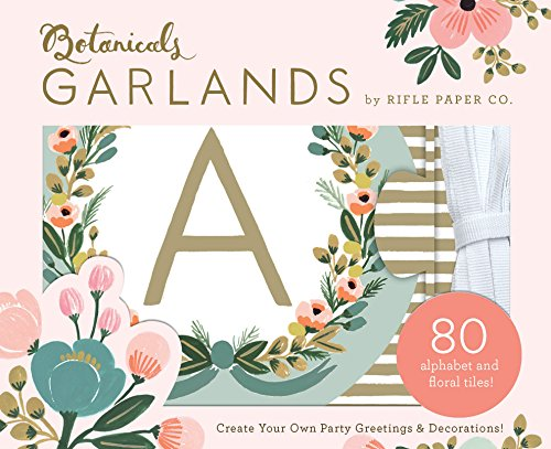Botanicals Hanging Letters (by Rifle Paper Co., Room Decorations, Banner Letters for Walls, Garland Letters)