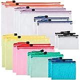 Best Zipper Bags - 16pcs Mesh Clear Zipper Pouch, Zipper File Bags Review