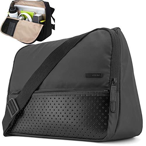 Laptop Bag Tablet Messenger Bag Briefcase Laptop Shoulder Bag Stand Up Multifunctional Pocket Travel Bag Computer Case Durable Tablet Sleeve for 15.6 inch Macbook Pro Business College Travel Women Men