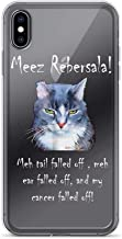 Me-ez Re-BER-sala! Adorable Cancer Kitty Pure Clear Case Cover for iPhone 7/8