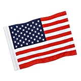 KINGTOP US Golf Flag, Double-Sewn American USA Flags, Regulation Tube Flag, Practice Putting Green Flag for Yard, 420D Premium Nylon Flag, 20' L x 13' H, 1-Pack