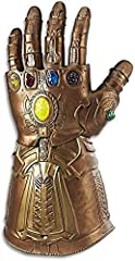 Articulated fingers with fist lock display mode Movie inspired sound effects Pulsating stone glow light effects Premium roleplay articulated electronic fist Collector inspired attention to detail Includes: gauntlet and instructions. X3 1.5V AA ALKALI...