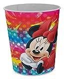 Star Licensing 50275 Disney Minnie Cestino Gettacarte, Multicolore, 23.5 x 23.5 x 24 cm