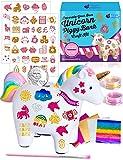 Purple Ladybug Kit de Hucha Infantil Unicornio para Niñas - Decora Huchas Originales con Adhesivos y Purpurina - Re-galos...