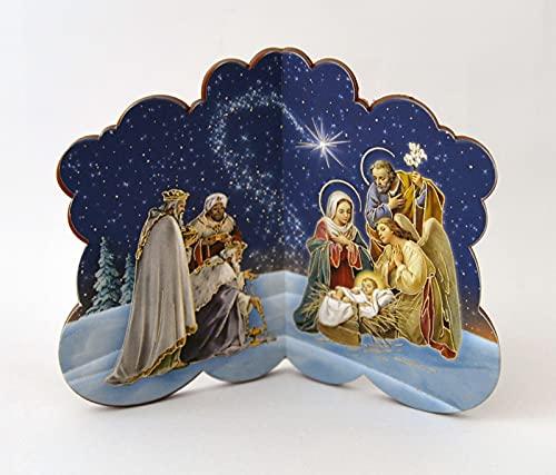 Kerststalweergave ca. 11 x 9 cm om neer te zetten