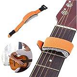 Xkfgcm Guitar Strings Muter Guitar Mute String Dampener Guitarra Ajustable Ukulele Cadena de Accesorios de Instrumento Guitarra Base String Mute Estilo Corto Bajo Eléctrico Amortiguador de Guitarra