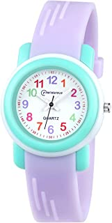 Kids Analog Watch for Girls Boys Watches Waterproof Children Time Teacher Toddler Analog Quartz Wrist Watches for 3-10 Year Little Child Gift