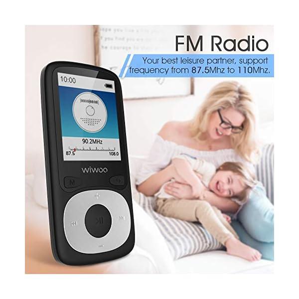 Bluetooth MP3 Player with FM Radio, 16GB Portable HiFi Lossless SoundWiwoo MP3 Player with Bluetooth, 16GB Portable HiFi Lossless Sound MP3 Player with FM Radio, Voice Recorder 6